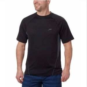 Speedo Men's Sun Protection Tee, Black, Size S,